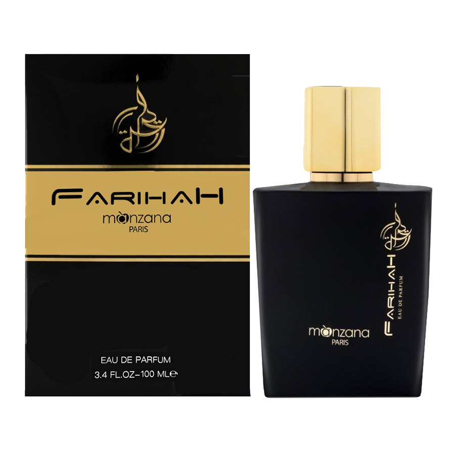 Manzana farihah is judicious blend of vibrant lemon note, with a warm patchouli that adds a sensual character to the perfume and it's combined with a rose floral base that gives a sweet-honeyed and carnal accents. It feels like a partition of music with perfect harmony of scent.